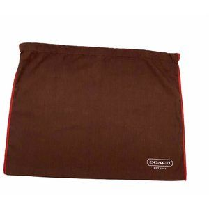 Coach Brown & Red Dust Bag Cover Protective Cotton